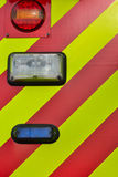 Back lights of fire engine Stock Images