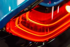 Back Lights Of Sports Car. Back Lights Of Luxurious Sports Car Stock Photos
