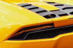 Back Lights Of Sports Car. Back Lights Of Luxurious Sports Car Stock Images