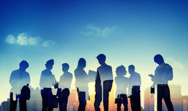 Back Lit Business People Discussion Communication Concept Royalty Free Stock Image