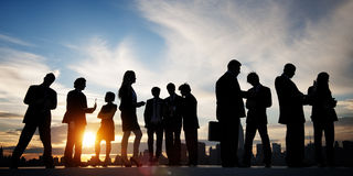 Back Lit Business People Discussion Communication Meeting Concep Royalty Free Stock Image