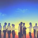 Back Lit Business People Discussion Communication Meeting Concep Stock Images