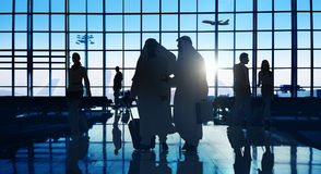 Back Lit Business People Traveling Airport Passenger Concept Stock Photo