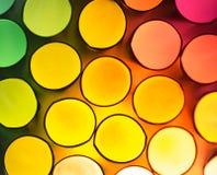Back lit drinking straws Stock Image