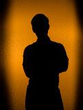 Back lit silhouette of man Royalty Free Stock Photography