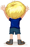 Back of a little boy with blond hair. Illustration Royalty Free Stock Photos