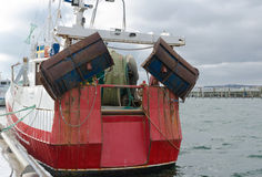Back of a little fishing boat royalty free stock photos