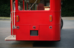 Back of London Red Bus Stock Image