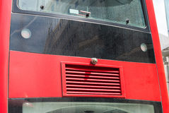 Back of London Red Bus. Copyspace Stock Photography