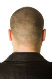 Back of male head. Isolated on white background Stock Image