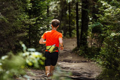 Back male runner marathon Royalty Free Stock Image
