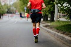 Back man runner Stock Image