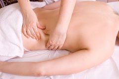 Back massage Royalty Free Stock Photography