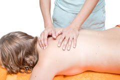 Back massage Stock Images