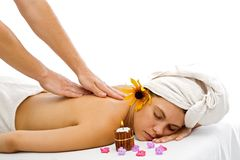 Back massage Stock Photos