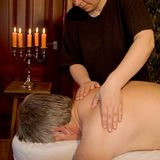 Back massage Stock Photography