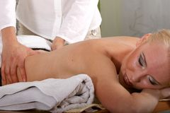 Back Massage Stock Photos