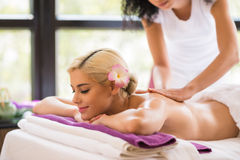 Back massage Stock Images
