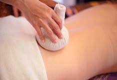 Back massage close up Royalty Free Stock Photo