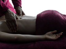Back massage therapy Stock Photography