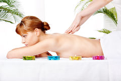Back massage treatment Royalty Free Stock Photography