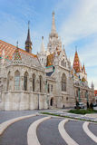 Back of the Matthias Church in Budapes, Hungary Royalty Free Stock Photography