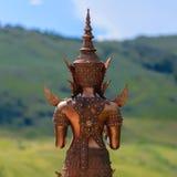 Back of metal Buddha image Royalty Free Stock Image