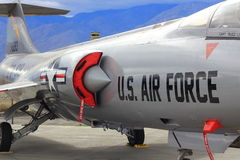 Back of a Military plane. Photographed in Palm Springs at the Palm Springs Air Museum Royalty Free Stock Image