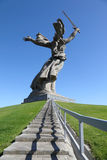 Back of monument Motherland in Volgograd Royalty Free Stock Images