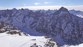 Back of the Mountain Aerial 4k. Aerial of French alps. This is a 4k video stock video footage
