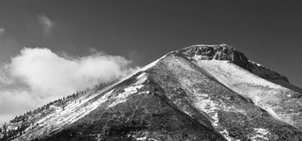 Back of the mountain. A black and white shot of Dirfis mountain at an atitude of 1900 meters height Stock Photography