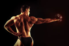 Back muscles Stock Images