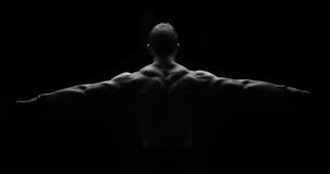 Back muscles in symmetry. Creative Muscles, showing off his back in symmetry Stock Images