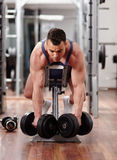 Back muscles workout Stock Photography