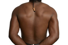 Back of a muscular african man Royalty Free Stock Photography