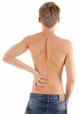 Back of a naked male torso Royalty Free Stock Photo