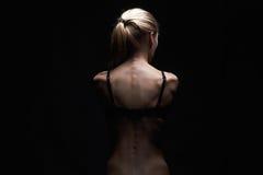 back naked woman young κορίτσι αθλητικών σωμάτων στοκ φωτογραφίες με δικαίωμα ελεύθερης χρήσης