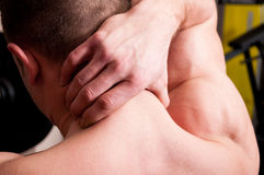 Back neck pain concept Royalty Free Stock Images