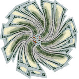 Back of Newest One Hundred Dollar. Back view of the newest USA 100 dollar bills vector illustration