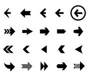 Back and next arrow icons vector set Royalty Free Stock Image