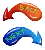Back and next arrows Stock Photography