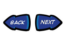 Back and Next Navigation Button Illustration Stock Photo