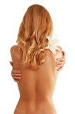 Back of nude beautiful girl Royalty Free Stock Photo