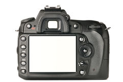 Back Of A Modern DSLR Camera Stock Photography