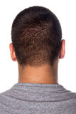Back Of A Young Mans Head Stock Photo