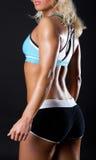 Back Of Athlete Stock Photo