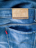 Back Of Blue Jeans Stock Photos