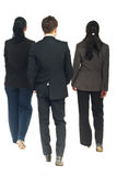 Back Of Business People Walking Stock Image