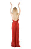 Back Of The Slim Girl In A Evening Dress Royalty Free Stock Image