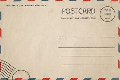 Free Back Of Vintage Blank Postcard. Royalty Free Stock Images - 139802219